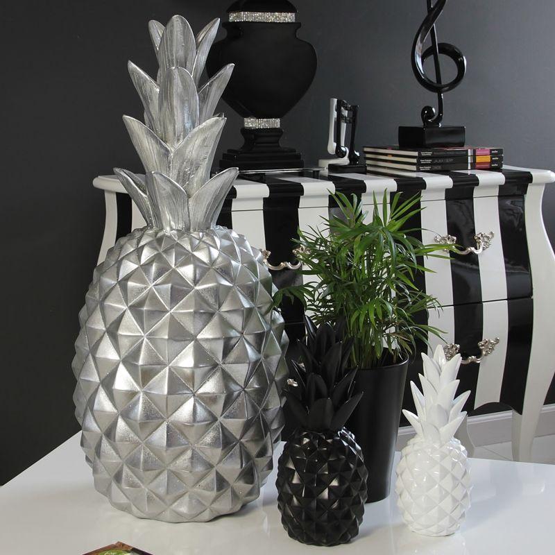 deko figurka ananas kolory bia y style serie styl. Black Bedroom Furniture Sets. Home Design Ideas