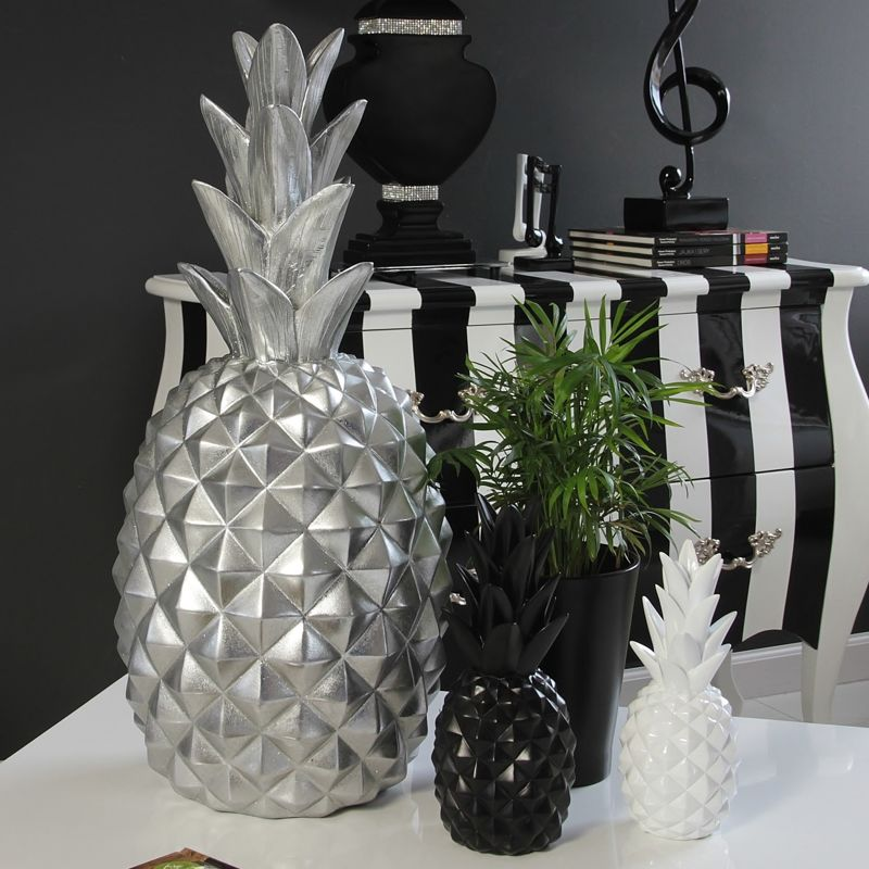 deko figurka ananas kolory bia y style serie styl modernistyczny dodatki figurki. Black Bedroom Furniture Sets. Home Design Ideas